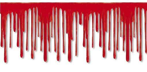 blood film border - Blood For Halloween