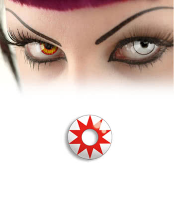Contact lens Red Star White
