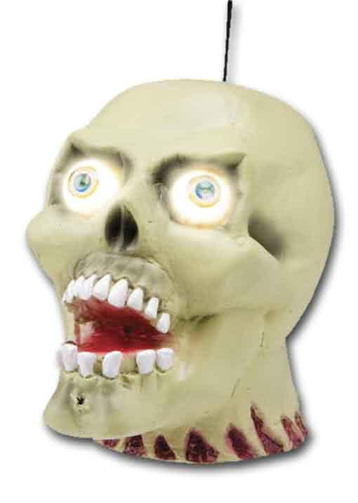 Shaking Zombie Skull