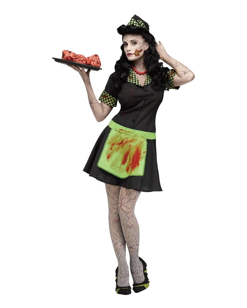 Waitress Halloween Costume get the adult dinah delight waitress plus size costume for 2999 at party city 50s Zombie Waitress Costume