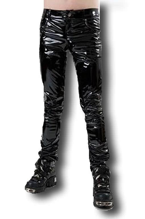 Black Gloss Jeans Fetish Fashion SM Gloss Jeans for men   horror ...