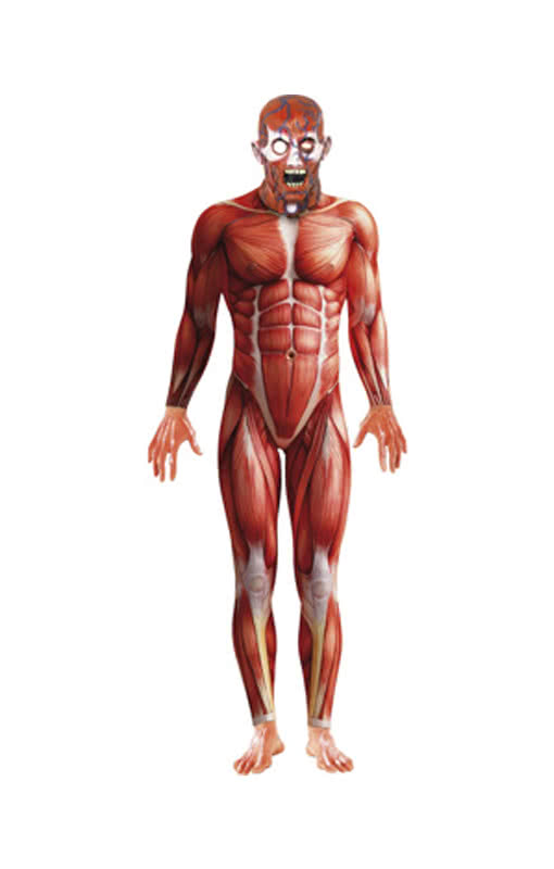 anatomy body suit with mask | body suit with muscle scene | horror, Muscles