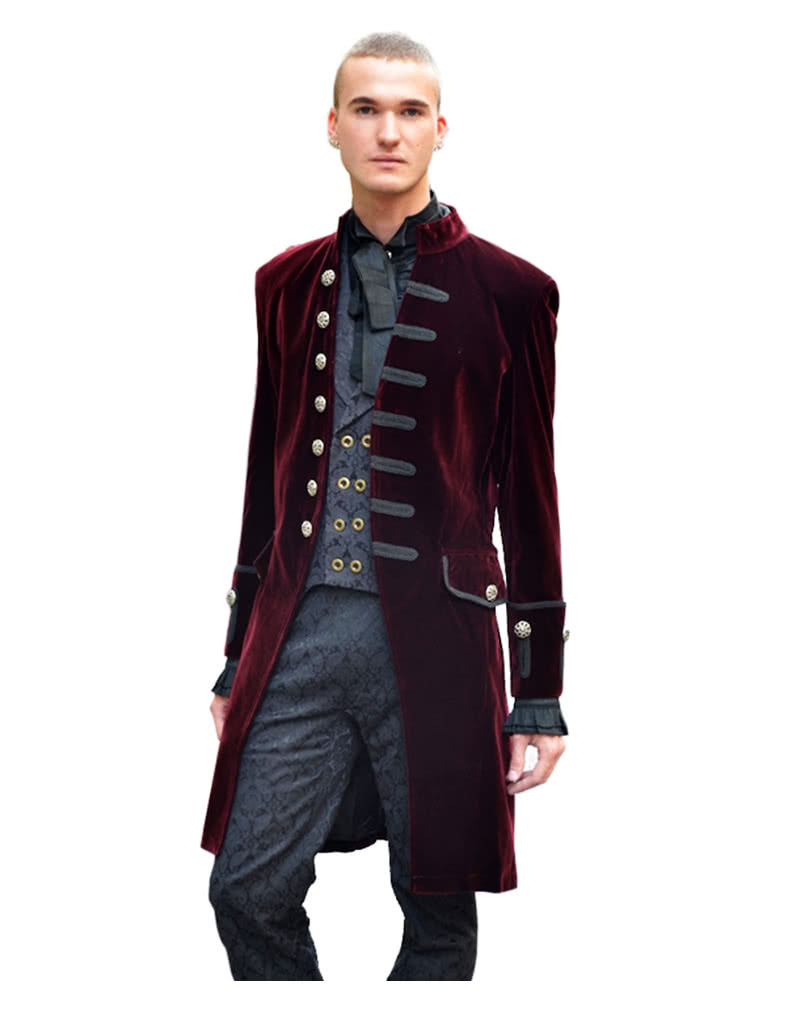 Men velvet frock coat | High-quality Victorian frock coat | horror ...