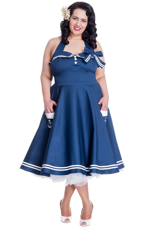 Sailor Dress Plus Size Sailor Dress Pinup Dress | horror-shop.com