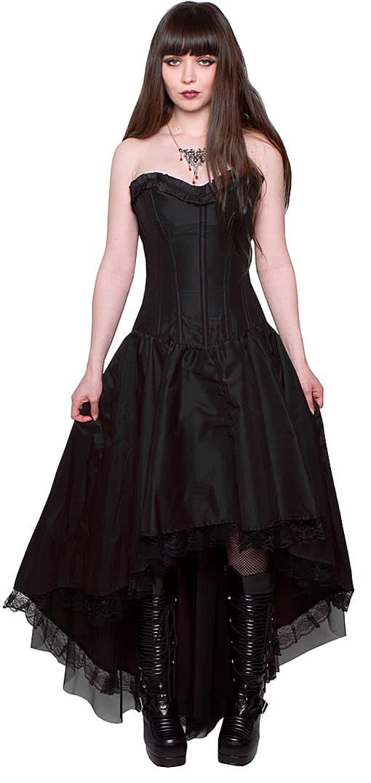 Kleid schwarz corsage