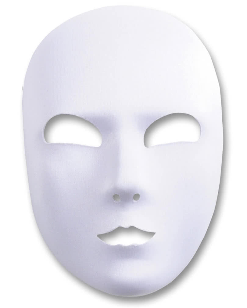 Elegant White Flocked Face Mask