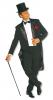 Cabaret Mens Costume black S