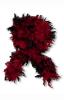 Deluxe Boa schwarz rot