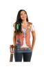 Hippie Damen T-Shirt mit Strass L / 40
