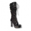 Inamagura patent leather boots with rose Application UK 7 US 9