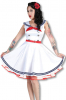 Sailor dress white red M / 38