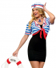 Sailor Babe Bolero Jacket and Sailor Hat M/L 38-40
