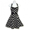 Halter Rockabilly Dress black and white XL / 42