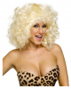 Party wig curly blond