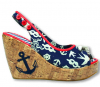 Sailor Wedge Peep-toes UK 8 US 10