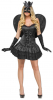 Sexy Black Angel Costume S/M 36-38