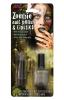 Lippenstift und Nagellack Zombie  grau