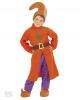 Zwerge Kostüm mit orangem Mantel M