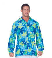 Flower Shirt Blue