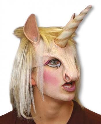 einhorn maske mit haar fantasymaske einhorn halbmaske horror. Black Bedroom Furniture Sets. Home Design Ideas