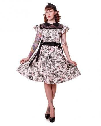 Petticoat kleid mit schmetterling print xl horror shop com