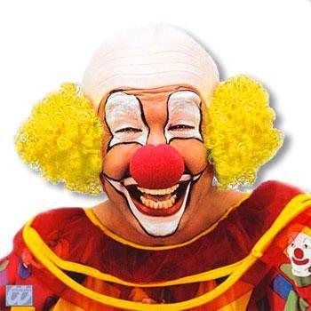 Clown Glatze mit Gelbem Haar