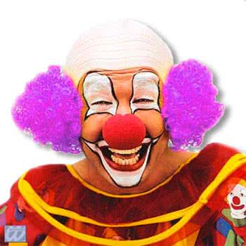 Clown Bald with Violet Hair