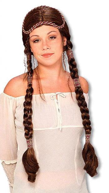 Medieval Damsel Wig Brunette