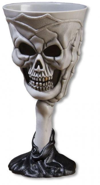 Halloween Skull Goblet Grey