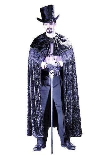 Gothic Diamond Cape Black Purple