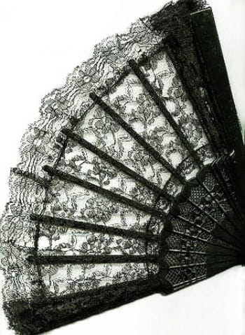 Fan made lace black