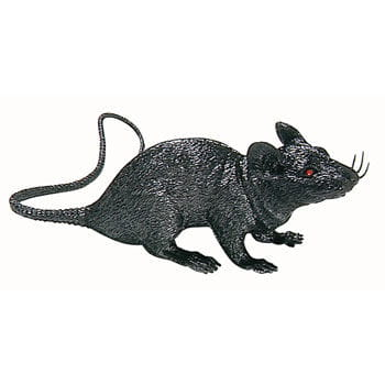Black plastic rat