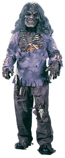 Zombie Deluxe Child Costume Medium