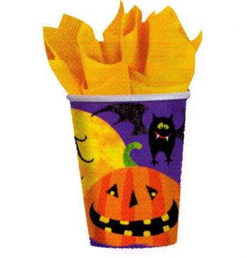 Pappbecher Halloween Motive 8 St.