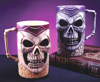 Skull Beer Mug Purple