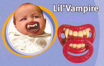 Baby Pacifier Lil Vampire