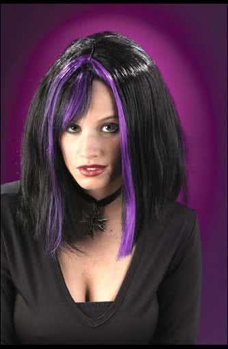 Gothic Wig Purple