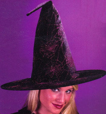 Glitter Witch Hat Purple