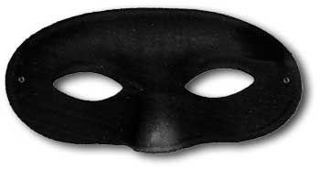 Zorro Maske schwarz runde Form