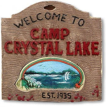 Camp Crystal Lake Schild