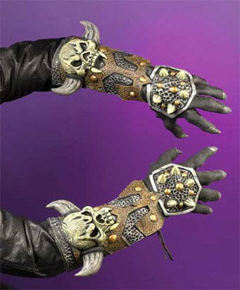 Rüstungshandschuhe Skull