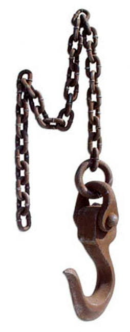 Rusty Crane Hook on Chain