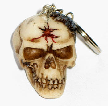 Keychains Skull and spider
