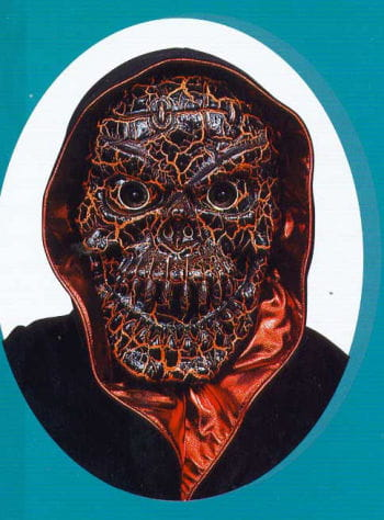 Crackled Skull Mask Orange