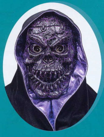 Crackled Skull Mask Purple