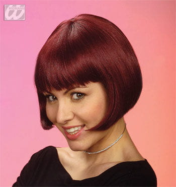 Pageboy wig burgundy red