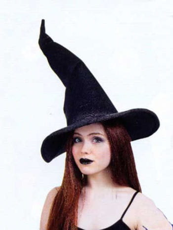 Elegant Witch Hat Black