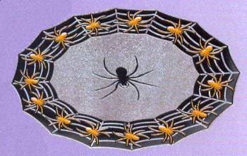 Spinnweben Platzteller mit Glitter
