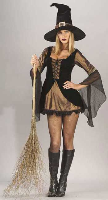 Sexy Golden Witch Costume