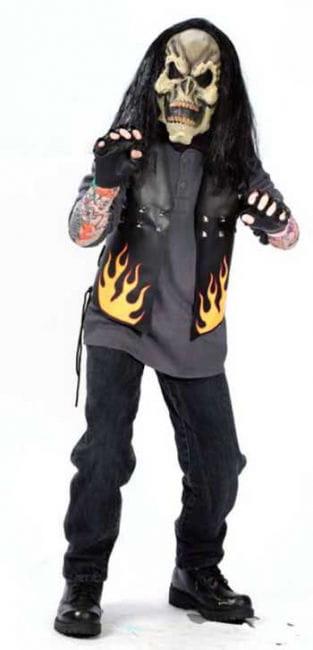 Zombie Biker Child Costume Size L